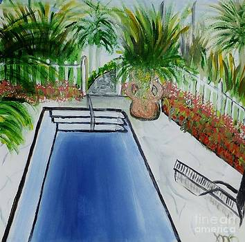 A Tropical Backyard by Marie Bulger
