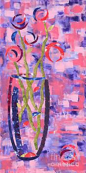 A Vase Full Of Roses by Paula Drysdale Frazell
