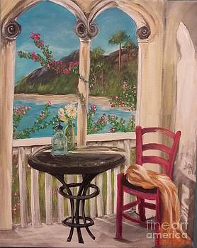 A Morning on the Veranda  by Katie Adkins