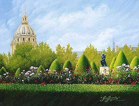 A View from Rodins Garden in Paris France by Gary  Hernandez