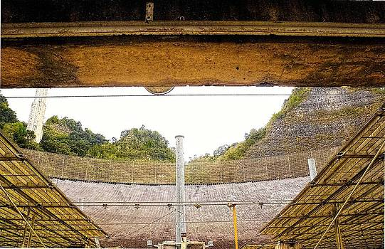 Sandra Pena de Ortiz - A View From Underneath The Arecibo Observatory
