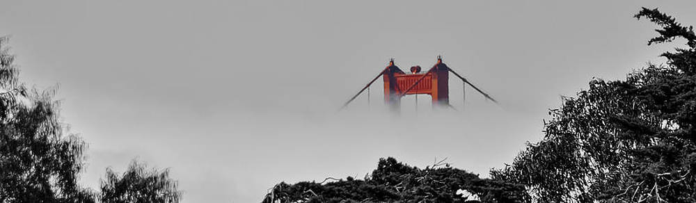 Golden Gate - A View of the Top by Gej Jones