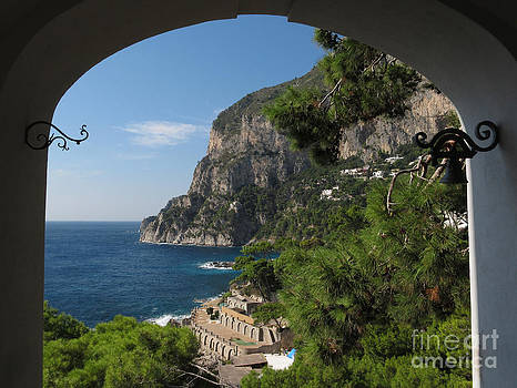 A view toward the cliffs on island Capri by Kiril Stanchev