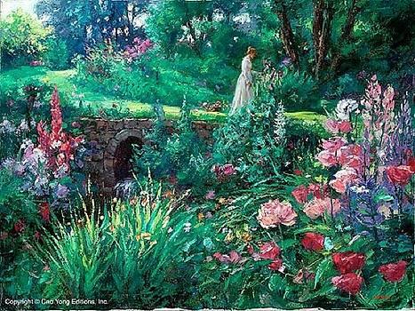 A Walk In Garden by Cao Yong