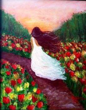 A walk in the fields by Elizabeth Diaz