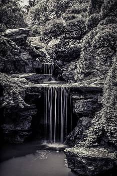 A Waterfall In The Japanese Garden by Edward Khutoretskiy
