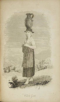 A Welsh Girl With Jug On Her Head by British Library