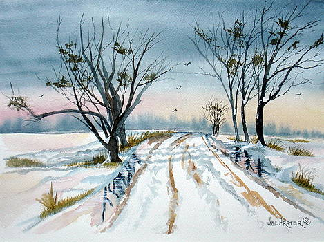A Winter Country Road by Joe Prater