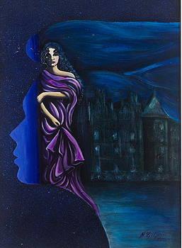 A wistful woman by Ljiljana Jensen