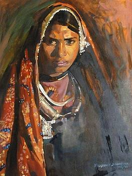 A Woman In Her Traditional Dress by Prashant Srivastava