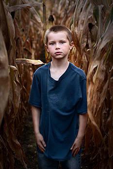 Aaron inside the corn field  by LaTrice Dixon