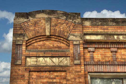 Abandoned Bank - Berwyn Nebraska by Andrea Kelley