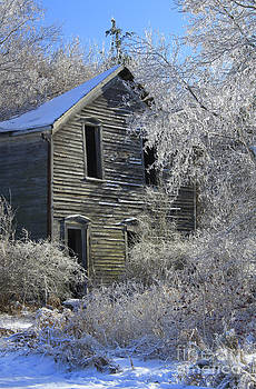 Abandoned Farm House in Ice by Kathy DesJardins