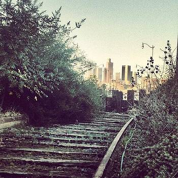 Abandoned L.a. Railroad Track. #dtla by Andres Cruz