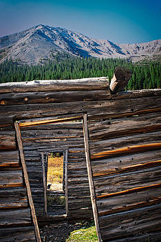 Abandoned Log Cabin in Independence Colorado by Julie Magers Soulen