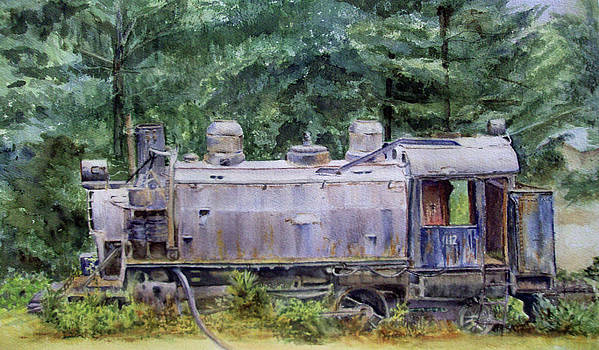 Abandoned Train I by Katherine  Berlin