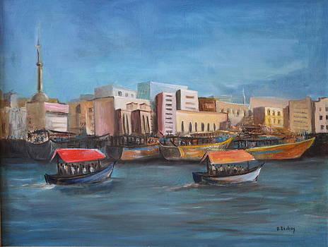 Abra - Dubai Creek by Brigitte Roshay