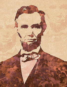 Abraham Lincoln digital artwork by Costinel Floricel