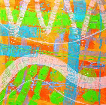 Abstract  23614   Diptych  I  by John  Nolan