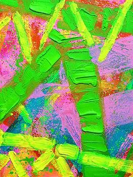 Abstract 6814 Diptych I  by John  Nolan