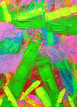 Abstract 6814 Diptych  II  by John  Nolan