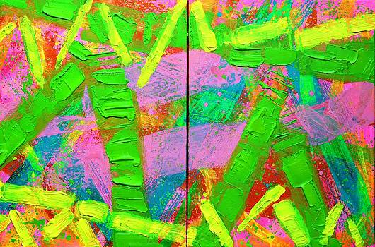 Abstract 6814 Diptych  From Duncannon To Drumcondra by John  Nolan