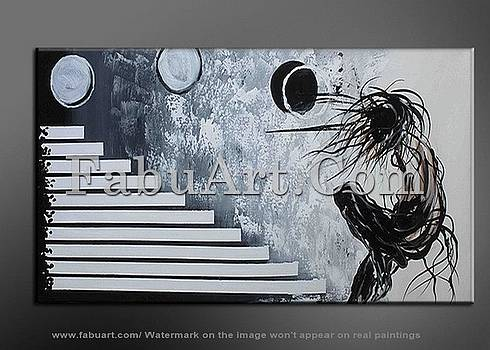 Abstract Architecture Painting 324 - 63 x 33in by FabuArt