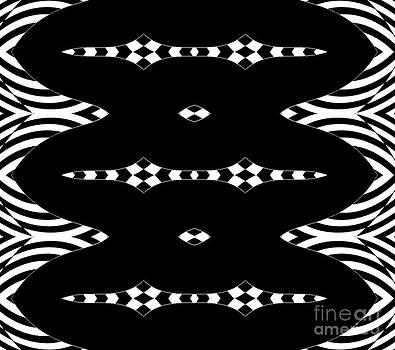 Abstract Black White Art No.296. by Drinka Mercep