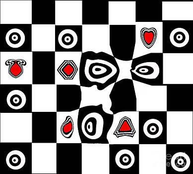 Drinka Mercep - Abstract Art Black White Red Geometric Art No.110.