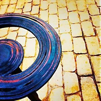 #abstract #art #metal #bricks #railing by Mark Jackson