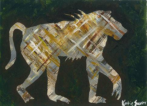 Abstract Baboon by Katie Sasser