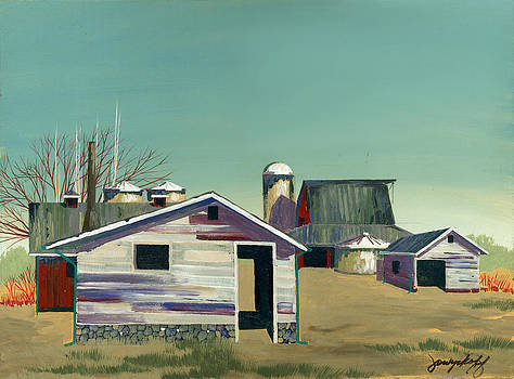 Abstract Barn by John Wyckoff