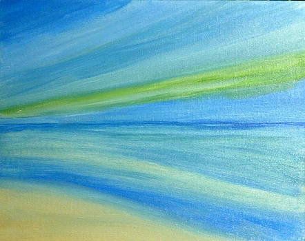 Abstract Beach by Nancy Nuce