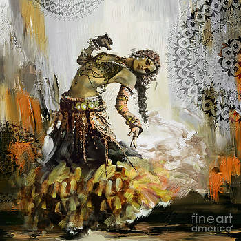 Abstract Belly Dancer 10 by Mahnoor Shah