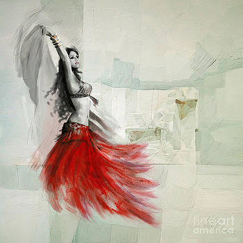 Abstract Belly Dancer 18 by Mahnoor Shah