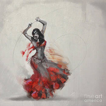 Abstract Belly Dancer 21 by Mahnoor Shah