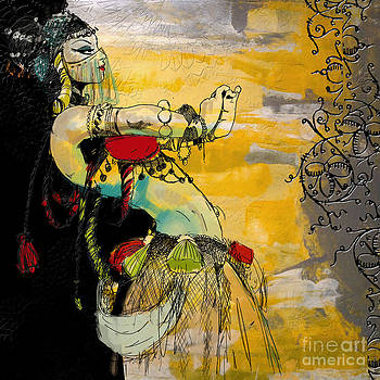 Abstract Belly Dancer 6 by Mahnoor Shah