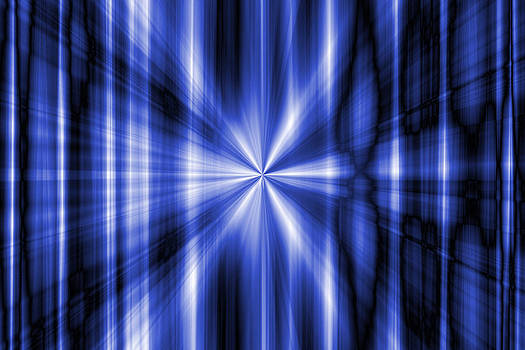 Abstract blue rays background by Somkiet Chanumporn