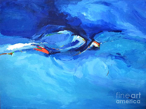 Abstract Blue Zaher Bizri Art Lebanon by Zaher Bizri