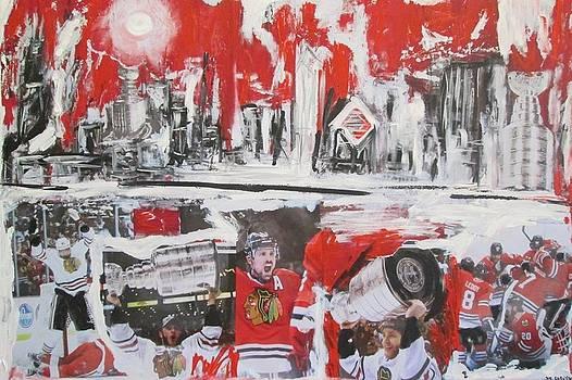 Abstract Chicago Skyline Blackhawks Championship by John Sabey Jr