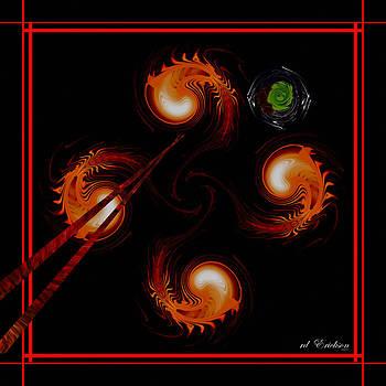 rd Erickson - abstract - Chopsticks and Shrimp