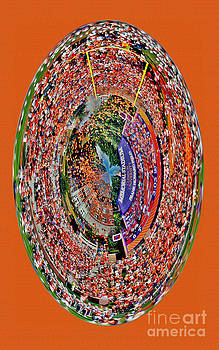 Abstract Clemson Stadium IPhone Case by Jeff McJunkin
