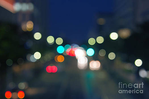 Beverly Claire Kaiya - Abstract Colorful Round Bokeh Lights