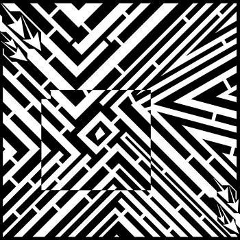 Abstract Convergence Maze  by Yonatan Frimer Maze Artist