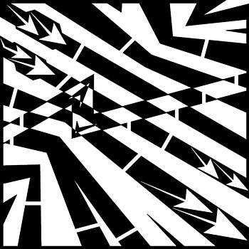 Abstract Distortion Fuel Line Maze by Yonatan Frimer Maze Artist
