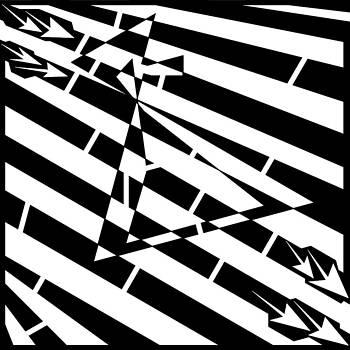 Yonatan Frimer Maze Artist - Abstract Distortion Hour-Glass Maze