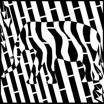 Yonatan Frimer Maze Artist - Abstract Distortion Invisible Elephant in the Room Maze