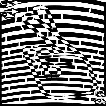 Abstract Distortion Keep Your Fingers Crossed Maze by Yonatan Frimer Maze Artist