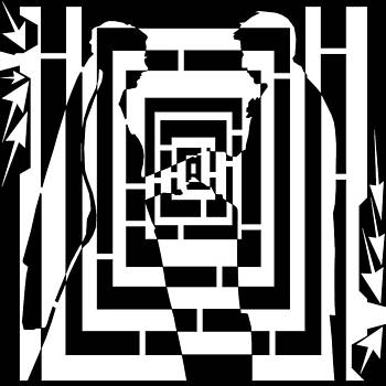Abstract Distortion Marriage Maze  by Yonatan Frimer Maze Artist