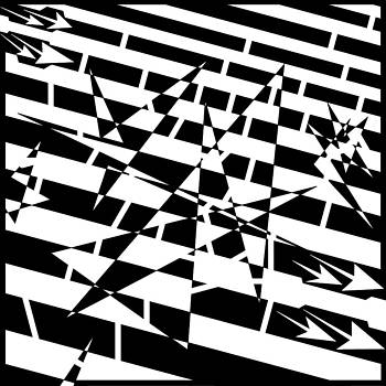 Yonatan Frimer Maze Artist - Abstract Distortion of Weakly Interactive Massive Particles Maze